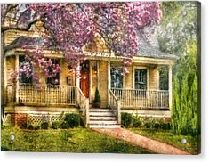 Spring - Door - Vacation House Acrylic Print by Mike Savad