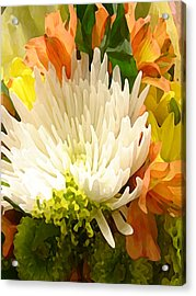 Spring Floral Burst Acrylic Print by Amy Vangsgard