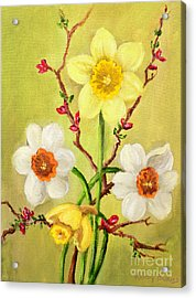Spring Flowers 2 Acrylic Print by Randy Burns
