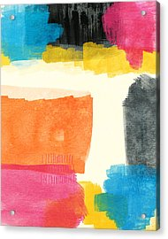 Spring Forward- Colorful Abstract Painting Acrylic Print by Linda Woods