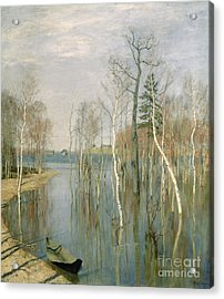 Spring High Water Acrylic Print by isaak Ilyich Levitan