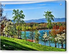 Spring On The Lake Acrylic Print by Kenny Francis