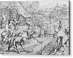 Spring Acrylic Print by Pieter the Elder Bruegel