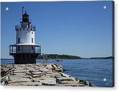 Spring Point Ledge Light Acrylic Print by Karol Livote