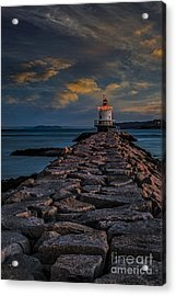 Spring Point Ledge Lighthouse Acrylic Print by Susan Candelario