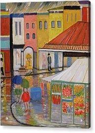 Spring Rain Bywood Market  Acrylic Print by Patricia Eyre