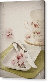 Spring Table Setting Acrylic Print by Amanda And Christopher Elwell