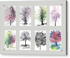 Spring Trees Acrylic Print by Sumiyo Toribe