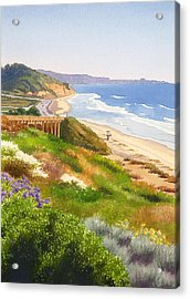 Spring View Of Torrey Pines Acrylic Print by Mary Helmreich