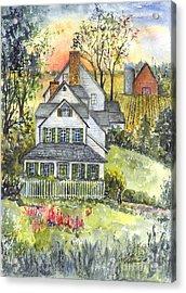 Springtime Down On The Farm Acrylic Print by Carol Wisniewski