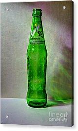Sprite Refresco Glass Bottle Acrylic Print by J M Lister
