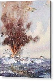 Squadron-commander A.w. Bigsworth Acrylic Print by Joseph Harold Swanwick
