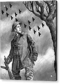 Squadron Acrylic Print by Mark Zelmer