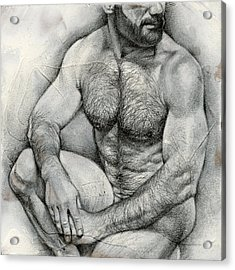 Square Composition 2 Acrylic Print by Chris  Lopez
