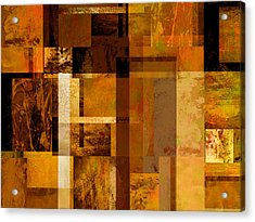 Squares And Rectangles Acrylic Print by Ann Powell