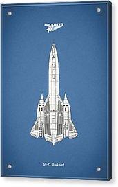Sr-71 Blackbird Acrylic Print by Mark Rogan