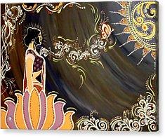 Sri Lalita Acrylic Print by Meenakshi Malhotra
