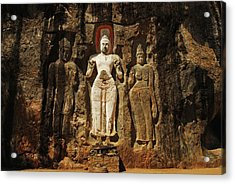 Sri Lanka, Ella, Dhowa Rock Temple Acrylic Print by Stephanie Rabemiafara