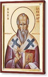 St Alexander Of Alexandria Acrylic Print by Julia Bridget Hayes