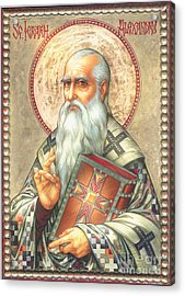 St. Alexander Acrylic Print by Zorina Baldescu