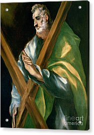 St Andrew Acrylic Print by El Greco Domenico Theotocopuli
