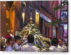 St Anthony's Feast - Boston North End Acrylic Print by Joann Vitali