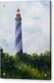 St. Augustine Light Acrylic Print by Herschel Pollard