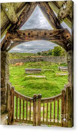 St Celynnin Graveyard Acrylic Print by Adrian Evans
