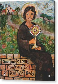 St. Clare Of Assisi Acrylic Print by Jen Norton