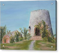 St. Croix Sugar Mill Acrylic Print by Mary Benke