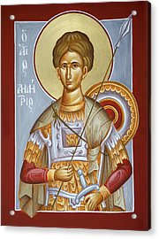 St Dimitrios The Myrrhstreamer Acrylic Print by Julia Bridget Hayes