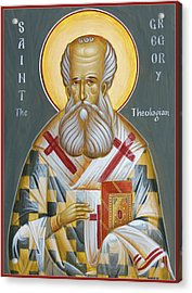 St Gregory The Theologian Acrylic Print by Julia Bridget Hayes