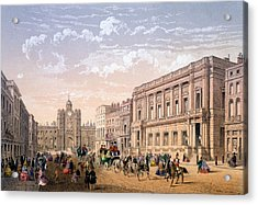 St James Palace And Conservative Club Acrylic Print by Achille-Louis Martinet