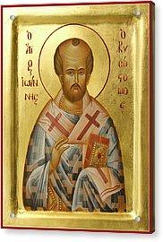 St John Chrysostom Acrylic Print by Julia Bridget Hayes