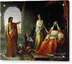 St. John The Baptist Rebuking Herod Acrylic Print by Giovanni Fattori