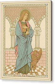 St John The Evangelist Acrylic Print by English School