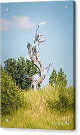 St. Joseph Michigan And You Seas Metal Sculpture Acrylic Print by Paul Velgos