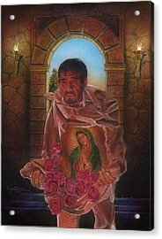 St. Juan Diego 2  Acrylic Print by Jose Rodriguez