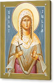 St Julia Of Carthage Acrylic Print by Julia Bridget Hayes