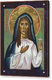 St Kateri Tekakwitha Acrylic Print by Jennifer Richard-Morrow
