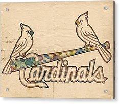 St Louis Cardinals Poster Art Acrylic Print by Florian Rodarte