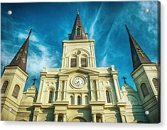 St. Louis Cathedral Acrylic Print by Brenda Bryant