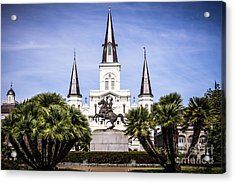 St. Louis Cathedral In New Orleans  Acrylic Print by Paul Velgos