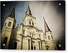 St Louis' Cathedral In New Orleans Acrylic Print by Ray Devlin