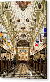 St. Louis Cathedral Acrylic Print by Steve Harrington