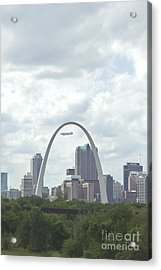 St. Louis Cityscape Acrylic Print by Kay Pickens