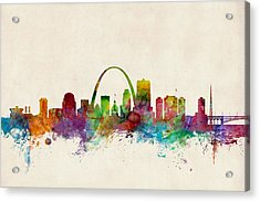 St Louis Missouri Skyline Acrylic Print by Michael Tompsett