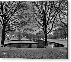 St. Louis - Winter At The Arch 001 Acrylic Print by Lance Vaughn