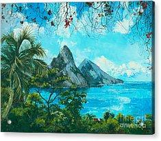 St. Lucia - W. Indies Acrylic Print by Elisabeta Hermann