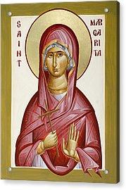 St Margarita Acrylic Print by Julia Bridget Hayes